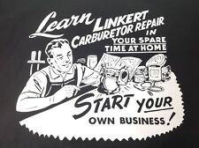LINKERT CARBURETOR T SHIRT INDIAN KNUCKLEHEAD FLATHEAD PANHEAD CANNONBALL TROG