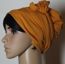 Sinar Tichel Scarves Head Wrap Hair Covering  Headcovering Bandana Orange Jewish