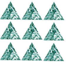 Loose Moissanite Diamond 4 Ring 4.44ct Vvs1-7pc(0.40-0.70ct)Whit e Blue Triangle