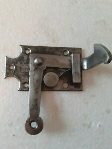 Ancienne clenche à ressort en fer forgé,ferrure serrure heurtoir penture