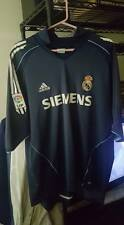 Vintage XXL Away Blue Real Madrid FC Footie Top 2000s SIEMENS Mint Condition