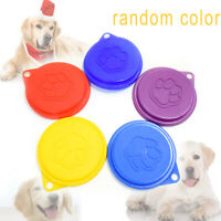 Pet Food Can Cover Lid Dog Cat Pet Tin Plastic Reusable Storage Cap Top 88mm LI
