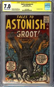 TALES TO ASTONISH #13 CGC SS Signed Larry Lieber 7.0 1st Groot 1 of 2 Rare GOG