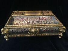 Inkstand inkwell Boulle Marquetry Napoléon III period excellent condition 19th