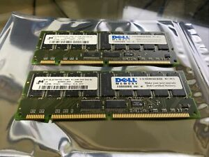 Micron Dell 1GB (2x 512MB) 168pin SDRAM ECC Sync Registered PC133 MT18LSDT6472G
