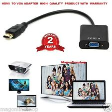 HDMI VGA Male to Female Video Adapter Cord Converter Cable 1080P Chipset For PC