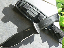 Gerber Prodigy Black Tactical Knife Sheath USA Full Tang U.s. 420hc Fixed Blade