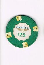 Empress $25 Casino Chip (with Beige & Cream Stripes)
