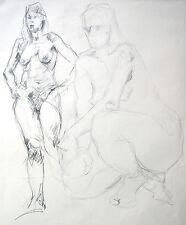 Lubomyr Mudretzkyj 1927-2001 Wien /Zeichnung-4 weibliche Akte 1987 Karl Hoffmann