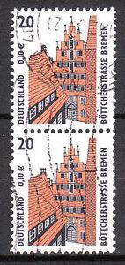 BRD 2001 Mi. Nr. 2224 R Paar Gestempelt Rollenmarke mit Nr. siehe unten! (10732)