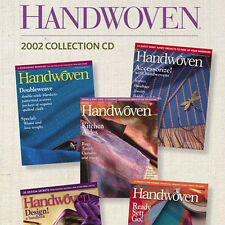 5 Issues on CD: HANDWOVEN MAGAZINE 2002 Weaving Fabric Double weave warp rep