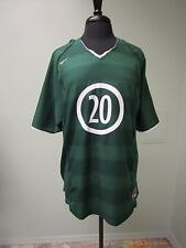 Nike Soccer Shirt Pullover #20 Short Sleeve Green Polyester Men's Size Large