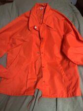 VTG Bright Orange Pendleton Round Up Let'er Buck Windbreaker Rain Jacket Sz L