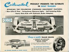 """Vintage """"CONTINENTAL BOAT ACCESSORIES"""" Large Sales Card: BOAT TRAILERS"""