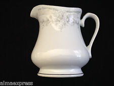 Lynns Fine China OLIVIA Empress Gray & White Flowers - SYRUP PITCHER / CREAMER