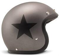 DMD - VINTAGE - STAR GREY HELMET - cafe racer harley davidson triumph