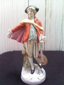 "Vintage Maruyama made in Occupied Japan Colonial Guitarist Porcelain Figurine 6"""