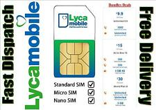 LYCAMOBILE PLUS SIM CARDS. BUY 1 GET 1 FREE