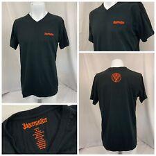 Jagermeister T Shirt L Black Short Sleeve 100% Cotton NWOT YGI R9-235