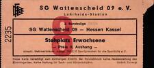 Ticket II. BL 83/84 SG Wattenscheid 09 - Hessen Kassel, 05.11.1983