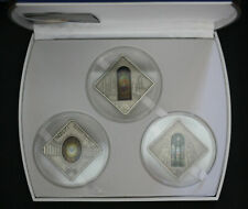 HOLY WINDOWS COMPLET COLLECTION 3 COINS SILVER 999.  PALAU 2011