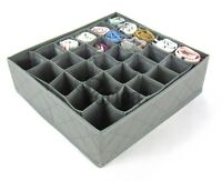 Periea 30 Cell Bedroom Underwear Drawer Organiser for Socks, Ties, Jewellery