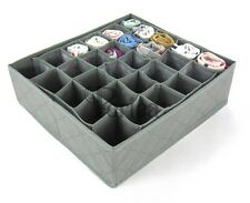 Periea 30 Slots Storage Box Wardrobe Organiser Drawer Divide Organizer Socks