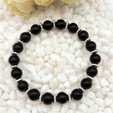 DIY Wholesale Fashion Jewelry 8mm Black Pearl Beads Stretch  Bracelet