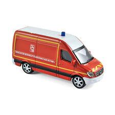 """Norev 310801 Mercedes Benz Sprinter """" Pompiers """" Rosso Scala 1:64 Modellino Auto"""