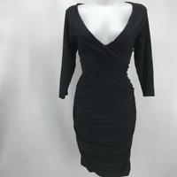 James Perse Black Long Sleeve Dress XL