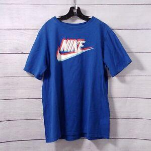 Boys Nike Tee Short Sleeve T-Shirt Size XL Blue