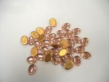 36 preciosa oval cabascons,18x13mm rosaline/goldfoiled