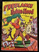 🍁 Freelance Robin Hood Comics #28 Anglo American Pub Canada 1945 Canadian White
