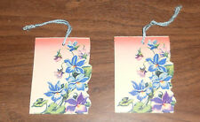 Bridge Tally Score Cards Vintage Qty 2 Tallies - Very Nice -Flowers