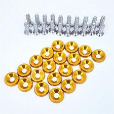 20 X Gold XYC Billet Aluminum Fender/Bumper Washer/Bolt Engine Bay Dress Up Kit