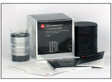 New Leica Summilux-M 50mm f/1.4 6 bit silver #11892 for M240P M9P M10 M8 M6