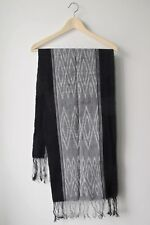 Black and White Tenun/Ikat Table Runner from the Island of Sumba