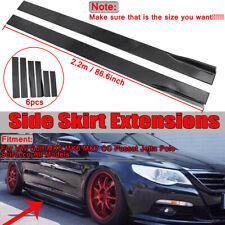 2.2M Side Skirts Extension Rocker Panel For VW Golf MK5 MK6 MK7 CC Passat Jetta