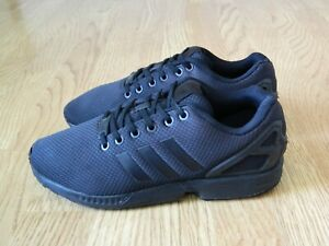Adidas ZX Flux Ladies Trainers Triple Black Size 7 / 40.5