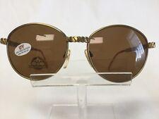 Vintage Alamo Wire Works Sunglasses Gold Metal Frame Glamorous Round Brown Lens