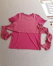 Cos*Wickel*Shirt*Viskose*Seide*Stretch*rosé*M*38-40*TOP*w.neu