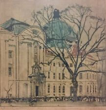 Max Pollak Etching Klosterneuburg 1924 Pencil Signed Ltd Ed 98/250 Listed 01556