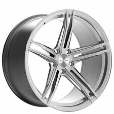 """4ea 20"""" Stance Wheels SF08 Brushed Silver Rims (S3)"""