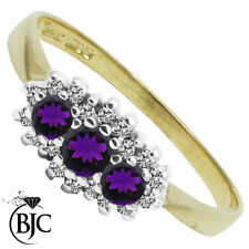 Diamond Cluster Natural Not Enhanced Fine Gemstone Rings