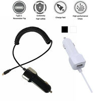 5V/2.1A USB 3.1 Type C Car Charger Fast Charging With USB-C Spring Coiled Cable