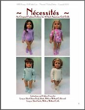 """Nécessités"" Fashion Pattern for American Girl Dolls"