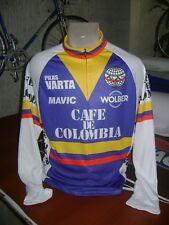 COLOMBIA BIKE JERSEY CAFE RETRO BIKES SHIRT SIZE L COOL COLUMBIAN JERSEY LONG SL