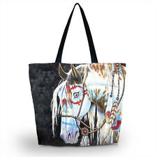 Horse Lady Girl s Shopping Shoulder Bags Women Handbag Beach Bag Tote  HandBags 1cb45d3e5b3ee