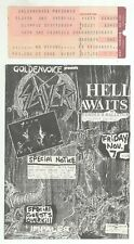 SLAYER & OVERKILL 11/7/86 Los Angeles Ticket Stub & 5x7 Folded Concert Flyer!