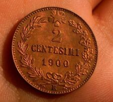 2 CENTESIMI 1900 ITALIEN UMBERTO I  FIOR DI CONIO ROSSO ITALY TOP